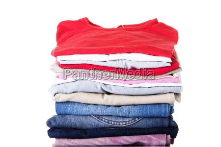 pilha de roupa