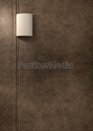 marrom couro ligado droga textil laco