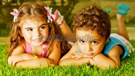 two happy kids