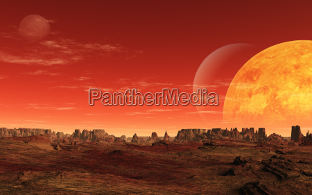 montanhas lua rocha globo terra ceu