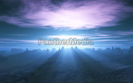 raio de sol crepusculo paisagem natureza