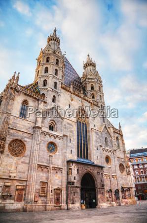 azul religiao igreja catedral viena austria