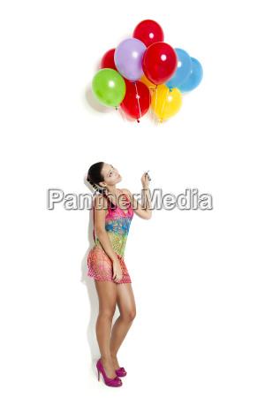 fashion woman with ballons