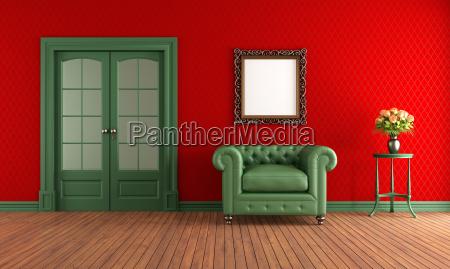 cadeira interior porta vintage parede vindimas