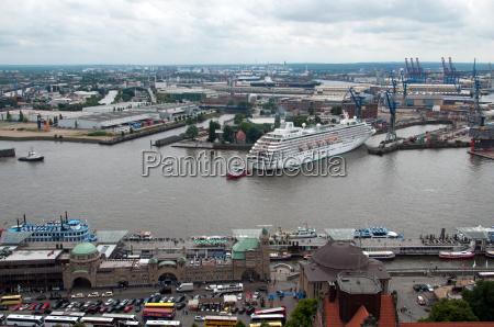 porto doca hamburgo portas elba navio