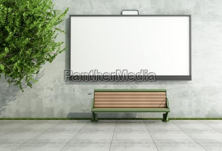 bilboard de rua de anuncio na
