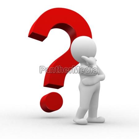 homem pensar pensamentos marca pergunta perguntar