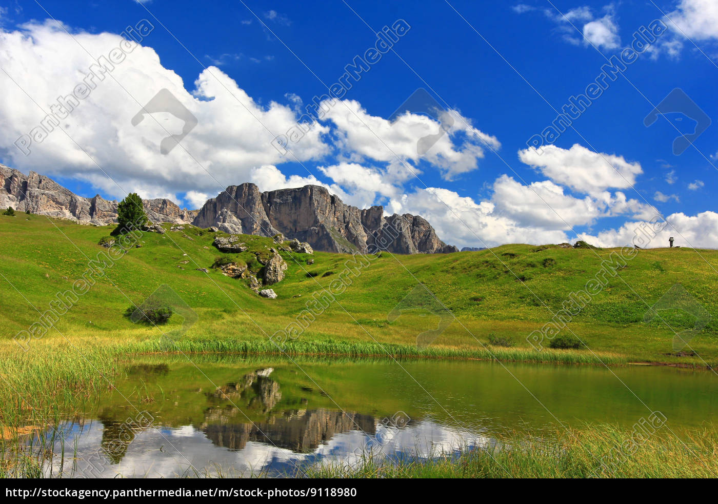 dolomitos, alpes, tirol do sul, rocha, reflexão, mountain lake - 9118980