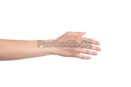 woman hand ready for handshaking