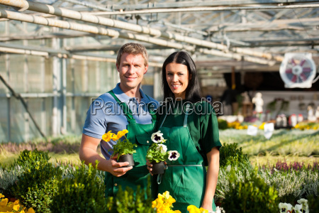gardener and teacher in their nursery