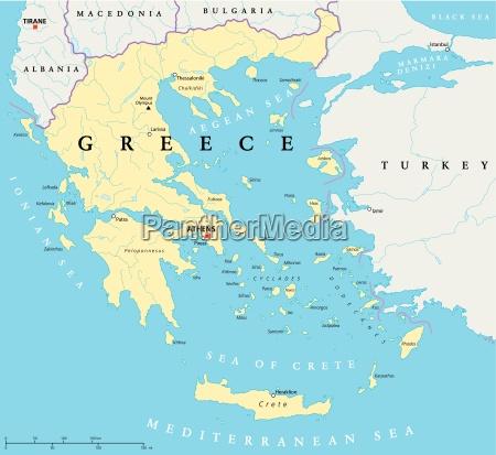 grecia mapa politico