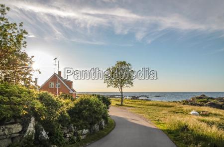 estrada litoral em bornholm