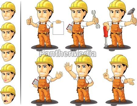 mascote 2 do trabalhador da construcao