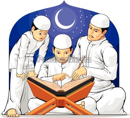 aprender islam leitura muculmano santo