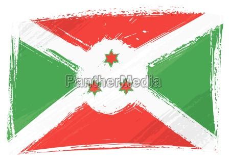 bandeira de grunge burundi