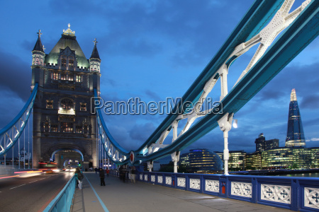 london tower bridge at the blue