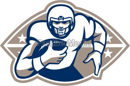 futebol, americano, runningback, estrela, frente - 10032050