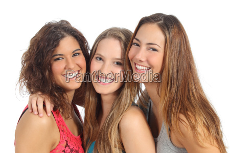group of three women laughing and