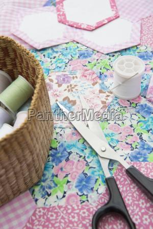 cesta perpendicular droga textil vertical tesoura