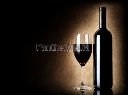 garrafa, de, vinho, e, taça, de - 10123525