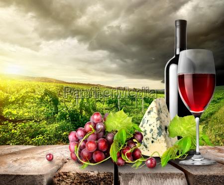 vinhedo, e, vinho, nas, montanhas - 10132017