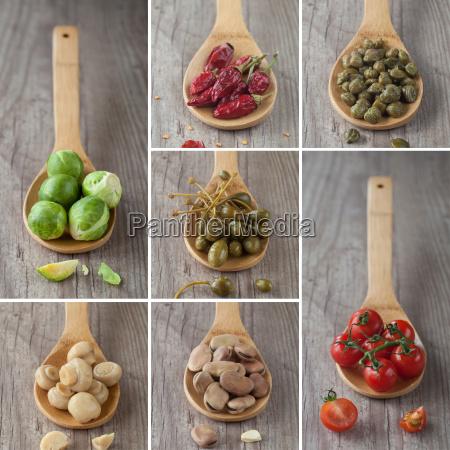 colagem, de, vegetais, mistos - 10145813