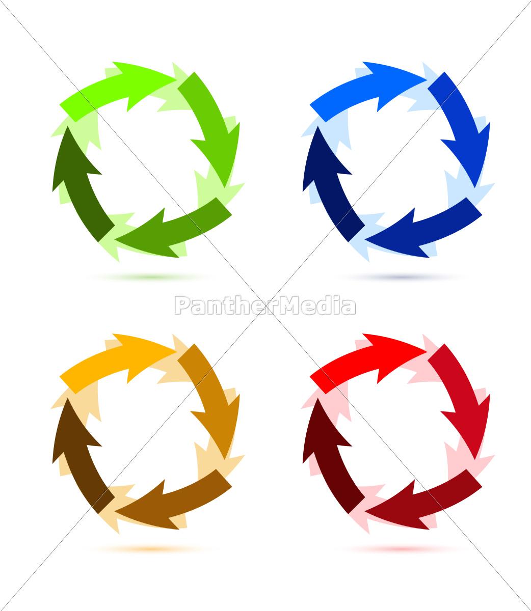 uma, ilustração, de, seta, circular, colorida - 10165753