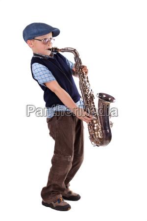 saxofonista retro