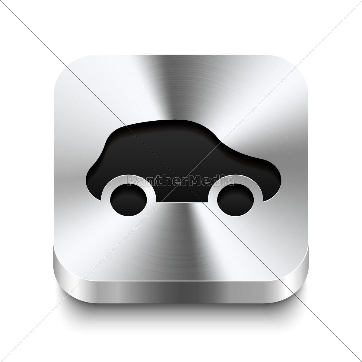 botão, quadrado, do, metal, perspektive-ícone, do - 10197223
