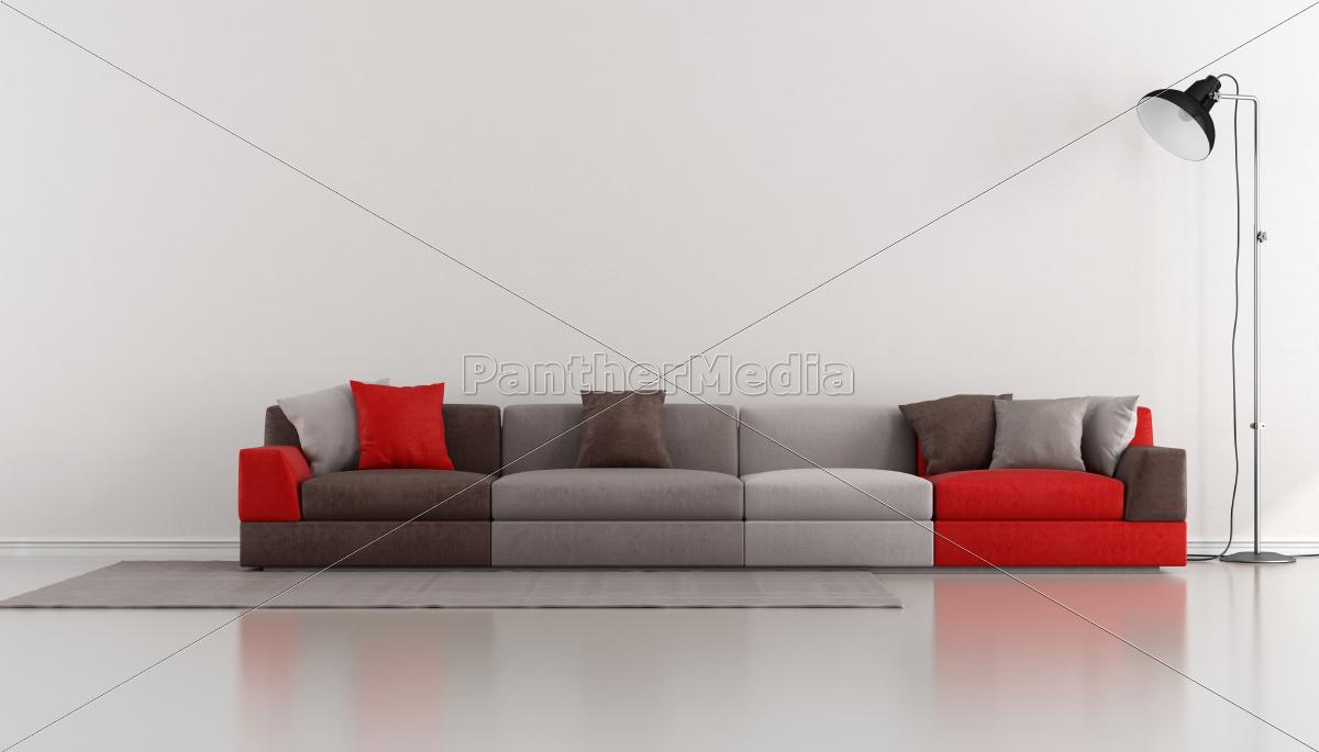 salão, minimalista, com, moderno, colorido - 10202245