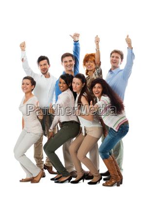unge gruppe team med mennesker forskellige