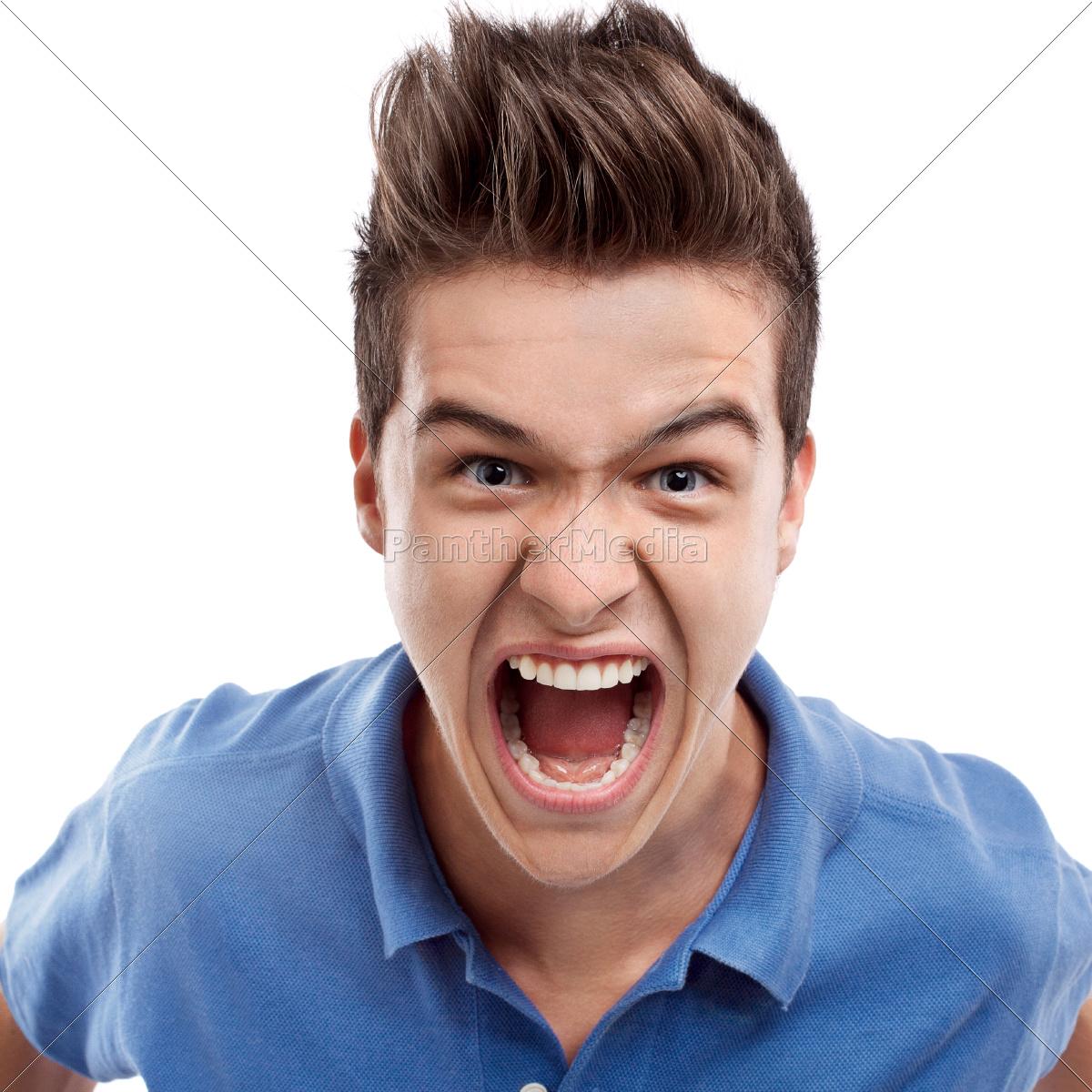 homem, irritado, gritando - 10311713