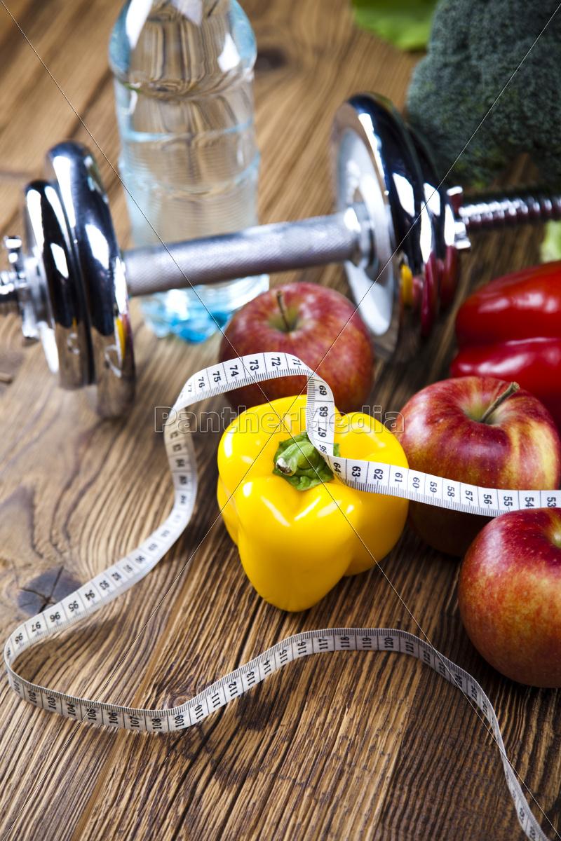 alimento, fresco, e, fita, da, medida, dieta - 10328689
