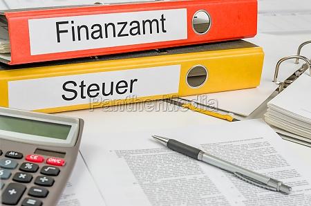 pastas de arquivo rotulado administracao fiscal