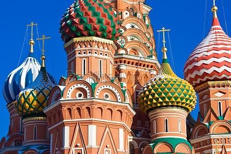 cupulas da catedral de sao basilio