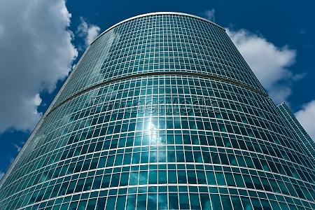 azul casa construcao torre vidro copo