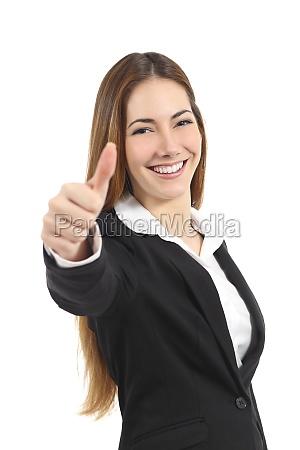 mulher de negocio feliz bonita que