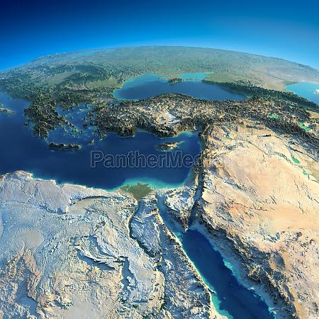 terra detalhado africa e oriente medio