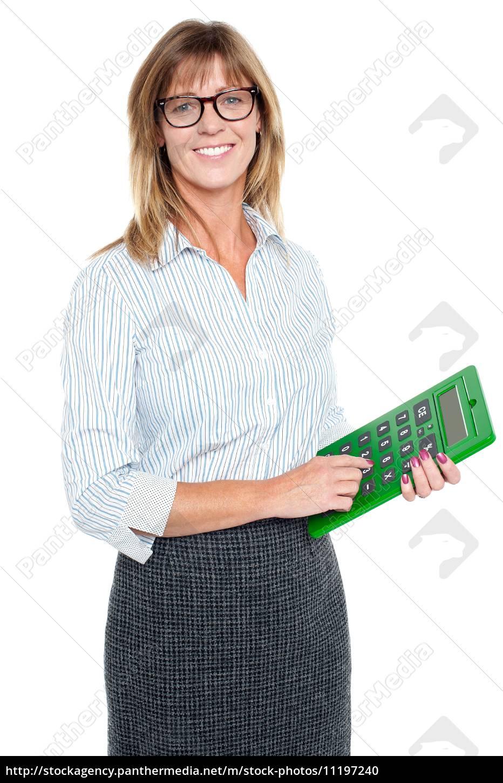 calculadora, bespectacled, da, terra, arrendada, do - 11197240