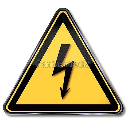 aviso sinal aviso de perigoso tensao