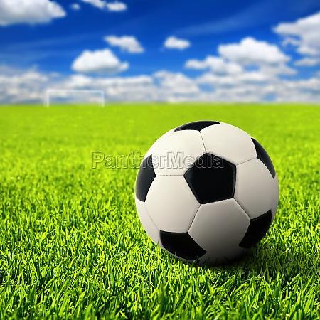 football in the open field