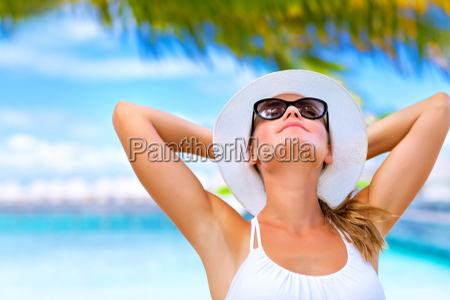 turismo retrato praia beira mar da