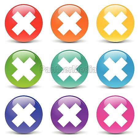cruz botao errado icone icones pinca
