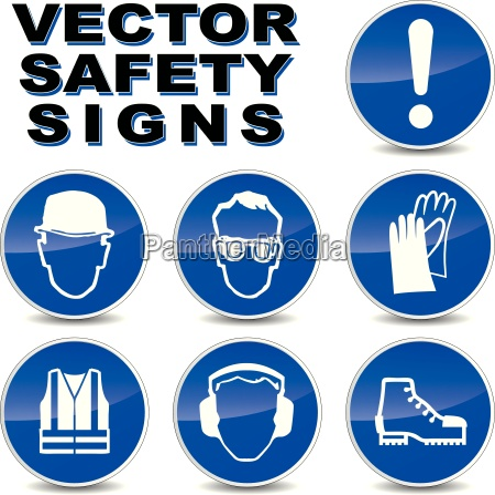 sinalizacao de seguranca vector