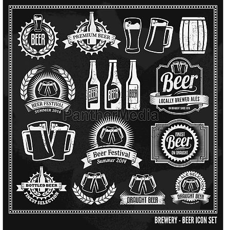 icone da cerveja quadro definido
