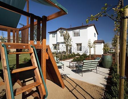 casa construcao quintal eua horizontalmente california