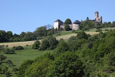 castelo antigo greifenstein em hesse alemanha