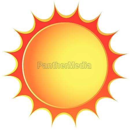 icone do sol vetor