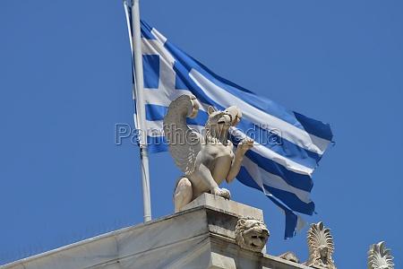 estatua grecia grego bandeira