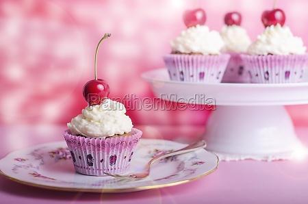 cupcake muffin cerejas aniversario muffin